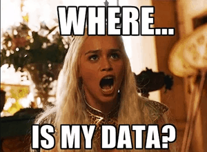 Where is my data